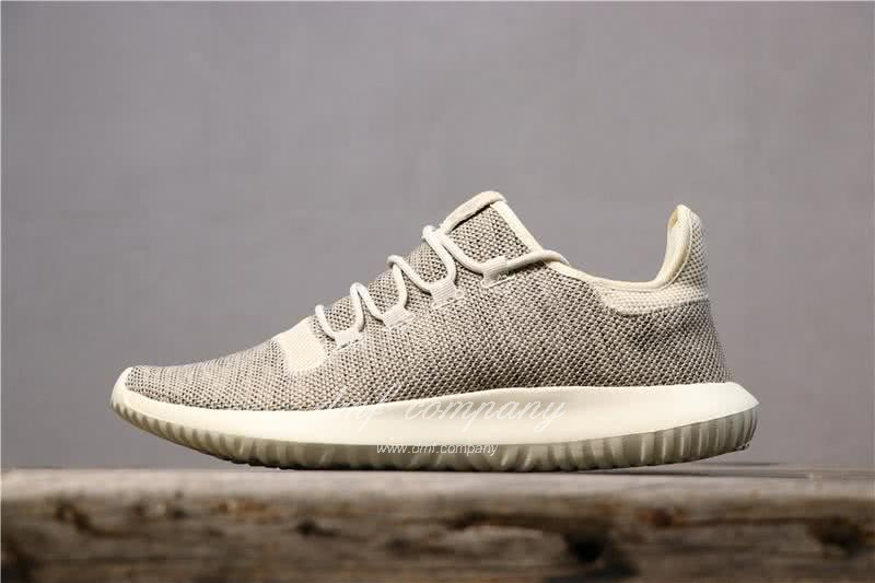 Adidas Tubular Shadow Heather Grey Upper And White Sole Men And Women 1