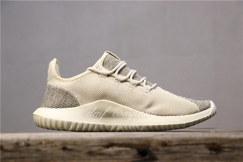 Adidas Tubular Shadow Heather Grey Upper And White Sole Men And Women 2