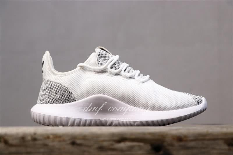 Adidas Tubular Shadow Grey Upper And White Sole Men And Women 2