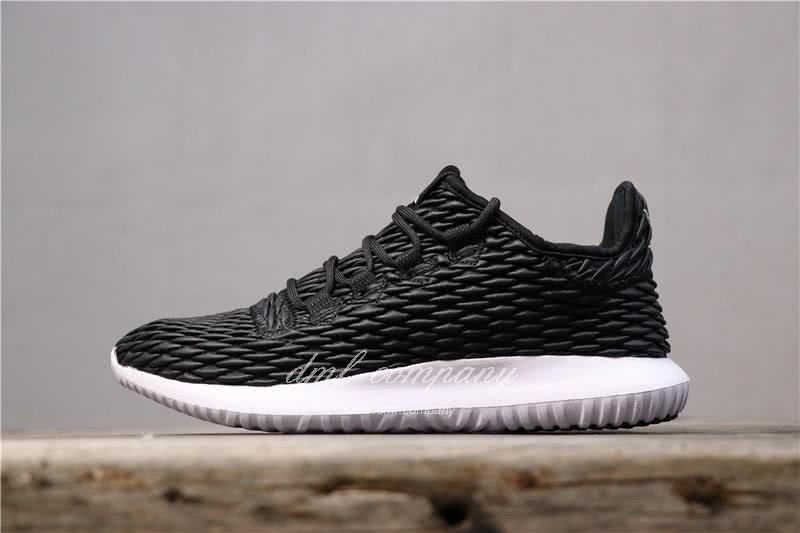 Adidas Tubular Shadow Black Upper And White Sole Men And Women 1