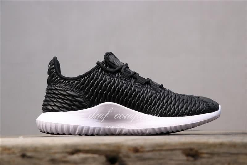 Adidas Tubular Shadow Black Upper And White Sole Men And Women 2