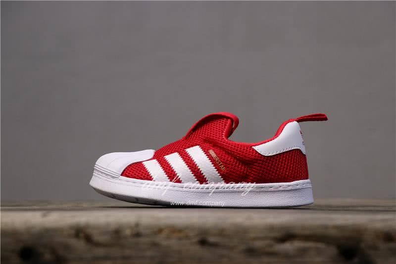 Adidas SUPERSTAR 360 Ⅰ Red and White Kids 1
