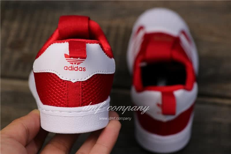 Adidas SUPERSTAR 360 Ⅰ Red and White Kids 4