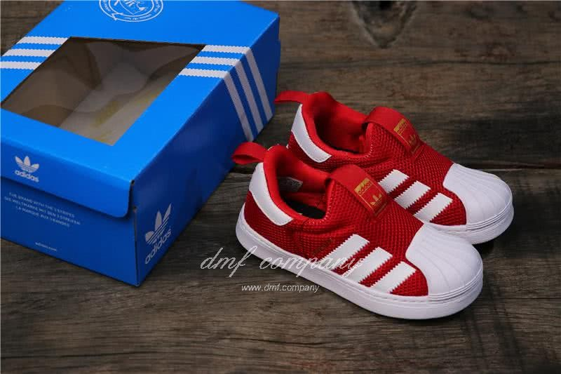Adidas SUPERSTAR 360 Ⅰ Red and White Kids 5