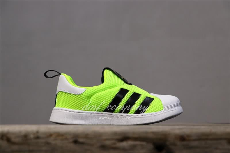 Adidas SUPERSTAR 360 Ⅰ Fluorescent Green Kids 3