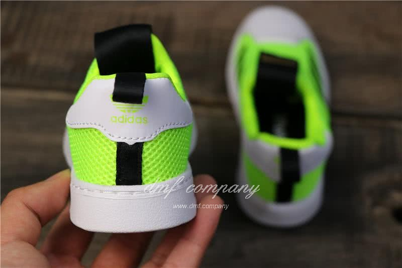 Adidas SUPERSTAR 360 Ⅰ Fluorescent Green Kids 4