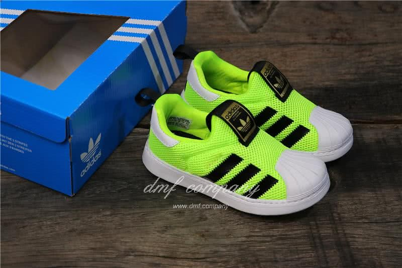 Adidas SUPERSTAR 360 Ⅰ Fluorescent Green Kids 5