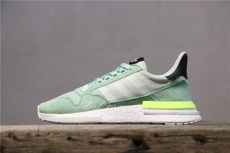 Adidas ZX500 RM Boost Green And Yellow Men And Women 1