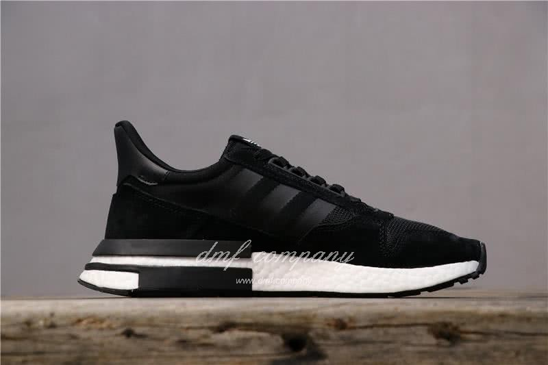Adidas ZX500 RM Boost Black And Whire Men And Women 2