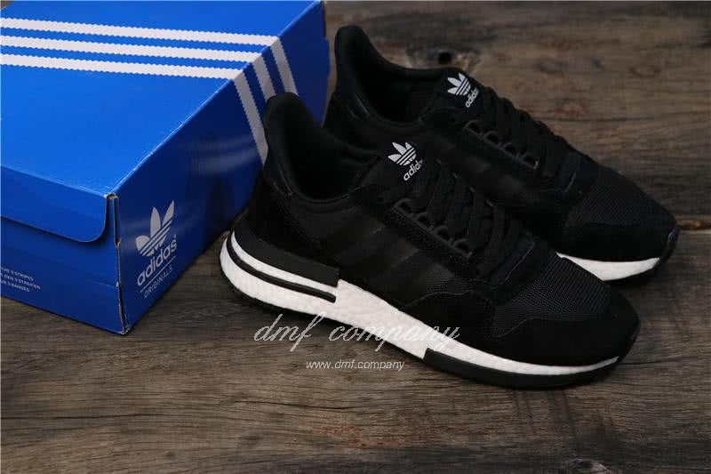 Adidas ZX500 RM Boost Black And Whire Men And Women 8