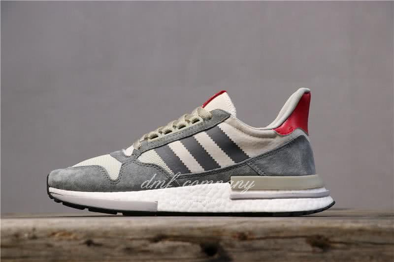 Adidas ZX500 RM Boost Grey White And Red Men And Women 1