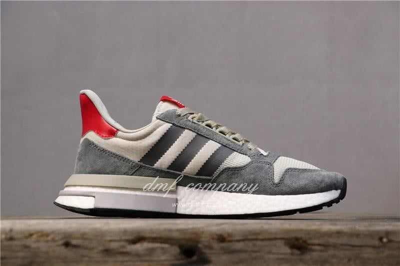 Adidas ZX500 RM Boost Grey White And Red Men And Women 2