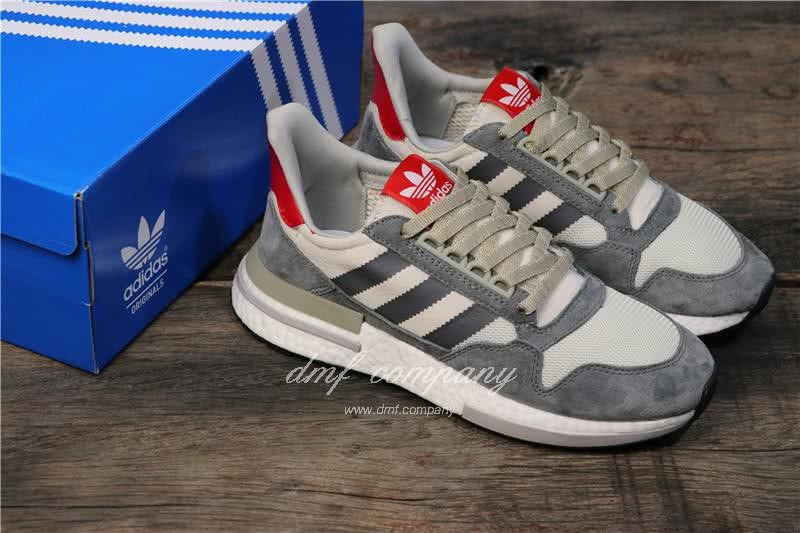 Adidas ZX500 RM Boost Grey White And Red Men And Women 8