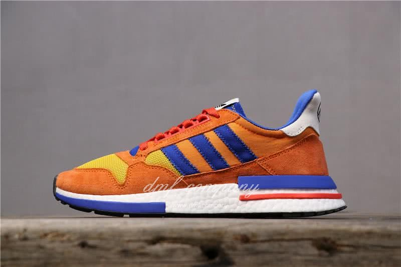Adidas ZX500 RM Boost Orange Blue And Yellow Men And Women 1