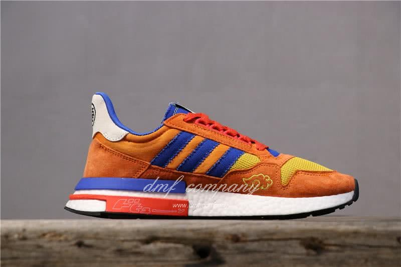 Adidas ZX500 RM Boost Orange Blue And Yellow Men And Women 2