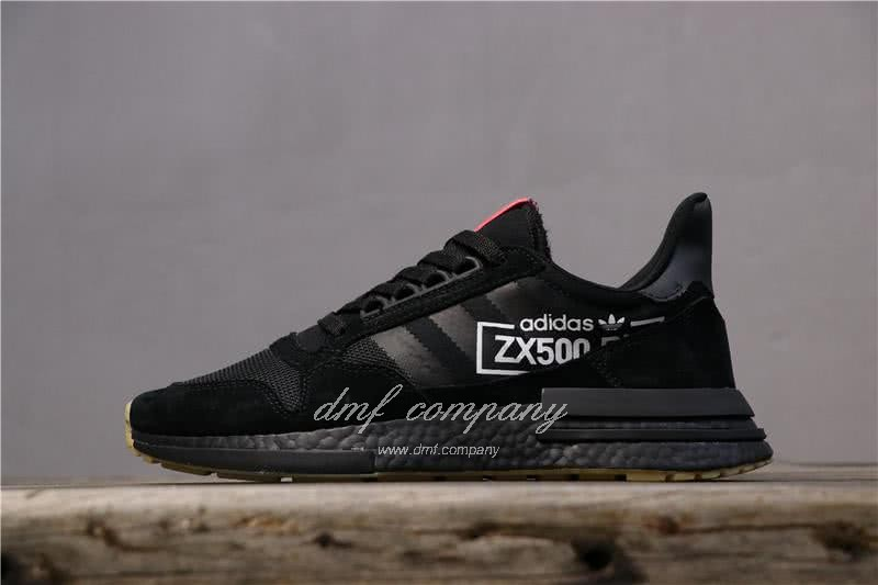 Adidas ZX500 RM Boost Black And Red Men And Women 1