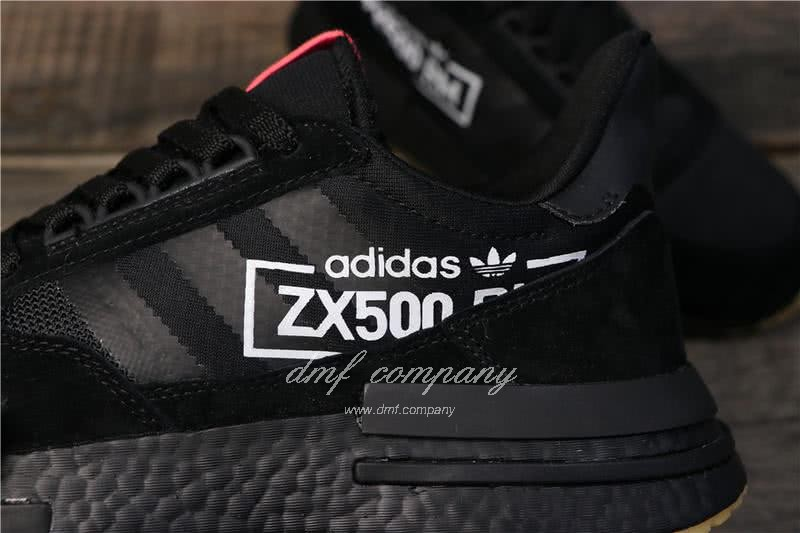 Adidas ZX500 RM Boost Black And Red Men And Women 5