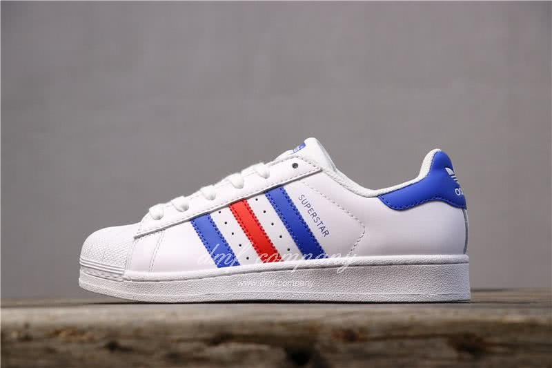 Adidas Originals Superstar White/Blue/Red Men/Women 1