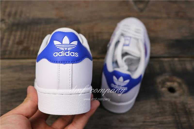 Adidas Originals Superstar White/Blue/Red Men/Women 2