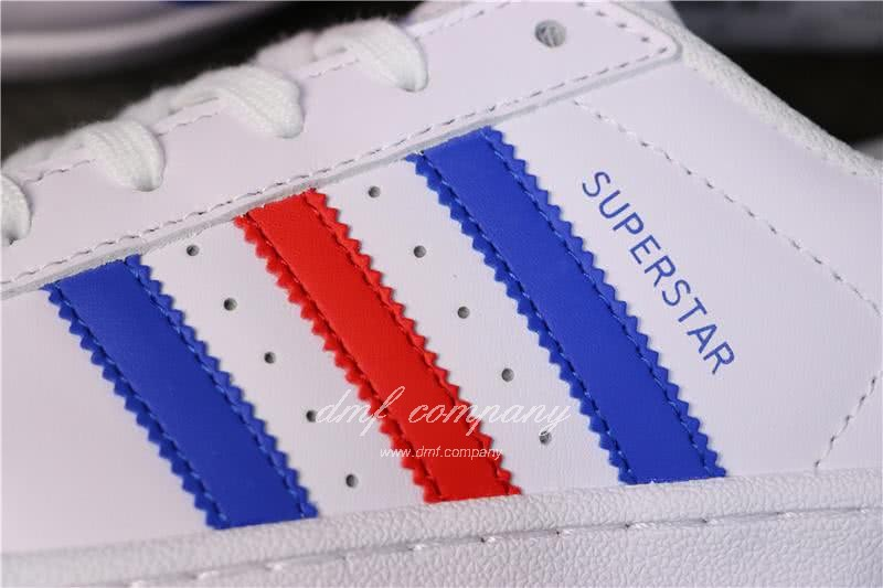 Adidas Originals Superstar White/Blue/Red Men/Women 4