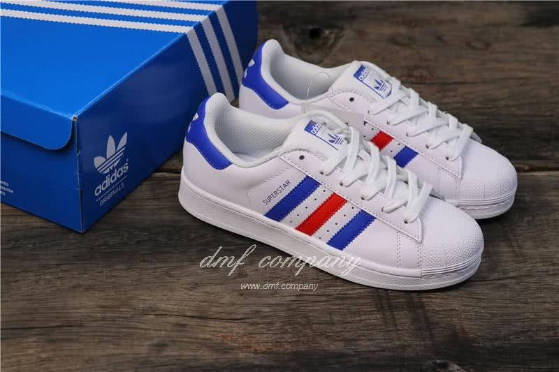 Adidas Originals Superstar White/Blue/Red Men/Women 5