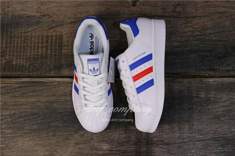 Adidas Originals Superstar White/Blue/Red Men/Women 6