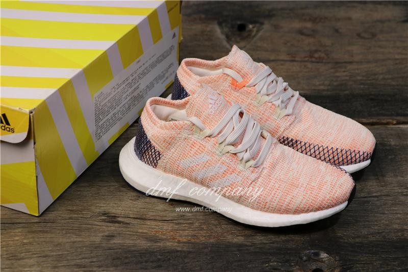 adidas Pure Boost Pink Women Shoes 8