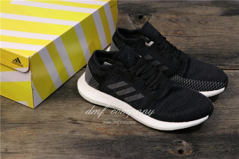 adidas Pure Boost Black Men Women Shoes 8