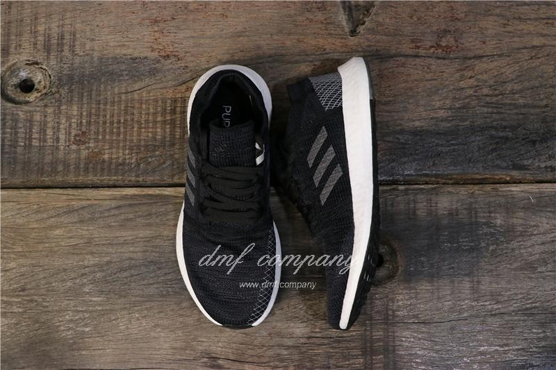 adidas Pure Boost Black Men Women Shoes 1