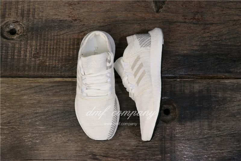 Adidas  Pure Boost AH2321 Men/Women White/Grey 8