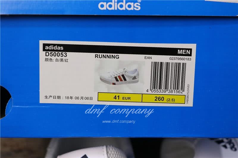 Adidas NEO White/Black/Red Men/Women 9