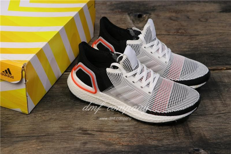 Adidas Ultra BOOST 19W UB19 Men Women Black White Red Shoes 8