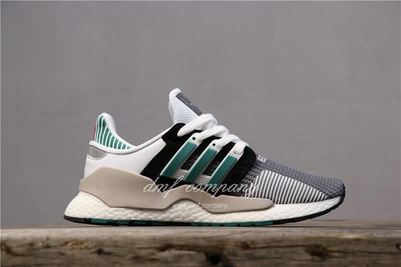 Adidas Eqt Bask Adv Grey White Black And Green Men And Women 3