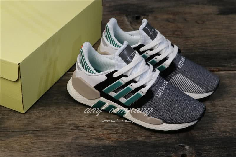 Adidas Eqt Bask Adv Grey White Black And Green Men And Women 1