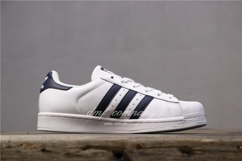 Adidas Originals Superstar White/Blue Men/Women 3