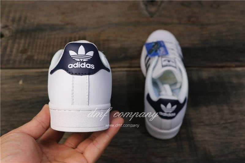 Adidas Originals Superstar White/Blue Men/Women 4