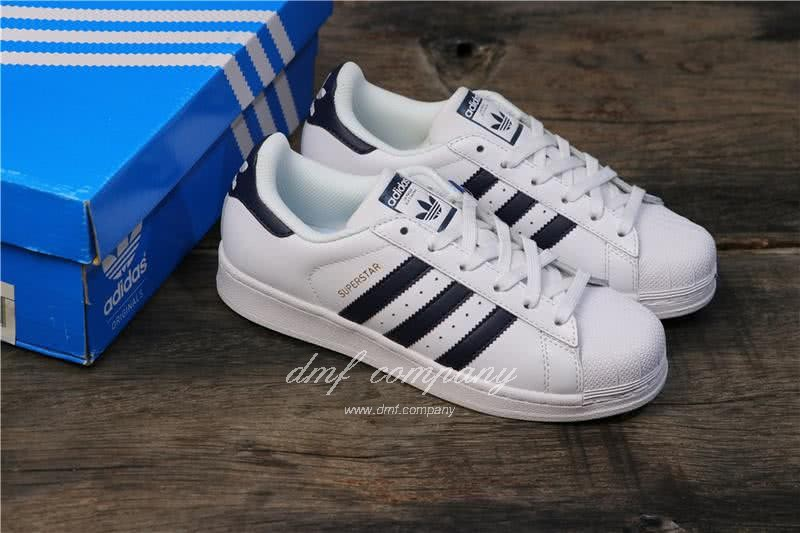 Adidas Originals Superstar White/Blue Men/Women 5