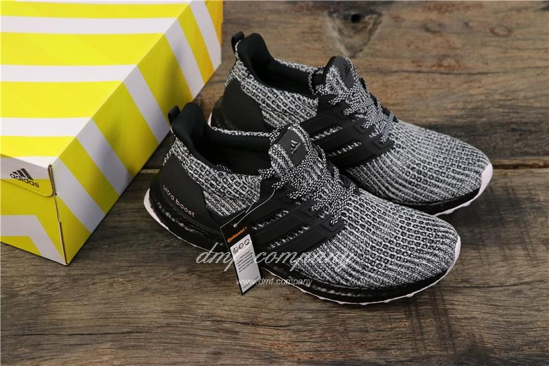 Adidas Ultra Boost 4.0 Men Women Black White Shoes 8