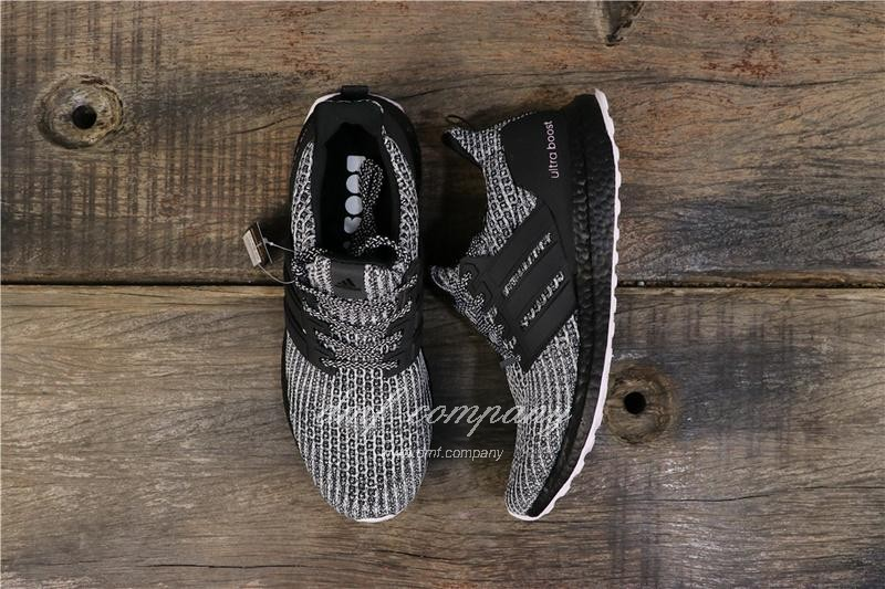 Adidas Ultra Boost 4.0 Men Women Black White Shoes 1
