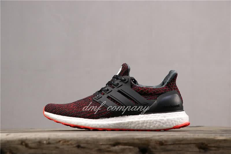 Adidas Ultra Boost 4.0 Men Women Black Red Shoes 2