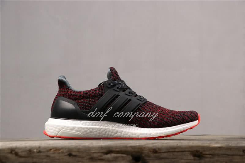 Adidas Ultra Boost 4.0 Men Women Black Red Shoes 3