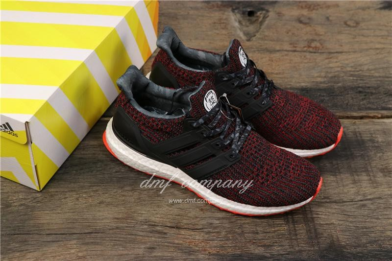 Adidas Ultra Boost 4.0 Men Women Black Red Shoes 8