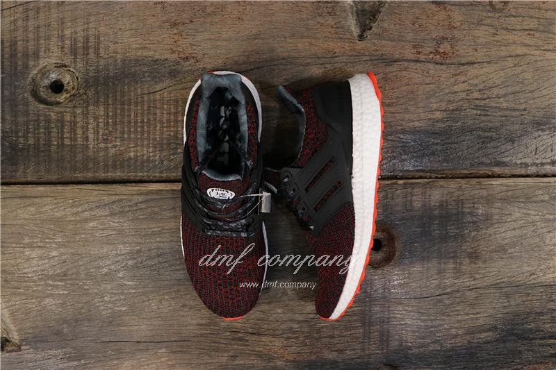 Adidas Ultra Boost 4.0 Men Women Black Red Shoes 1