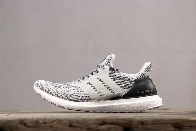 Adidas Ultra Boost 3.0 Men Women Black White Shoes 2