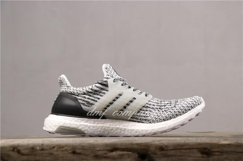 Adidas Ultra Boost 3.0 Men Women Black White Shoes 3
