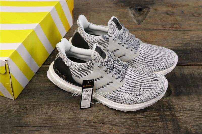 Adidas Ultra Boost 3.0 Men Women Black White Shoes 8