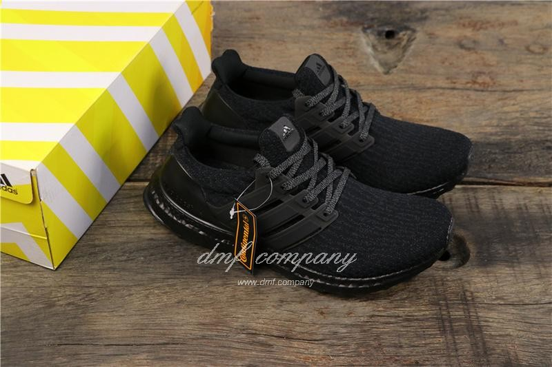 Adidas Ultra Boost 3.0 Men Women Black Shoes 8