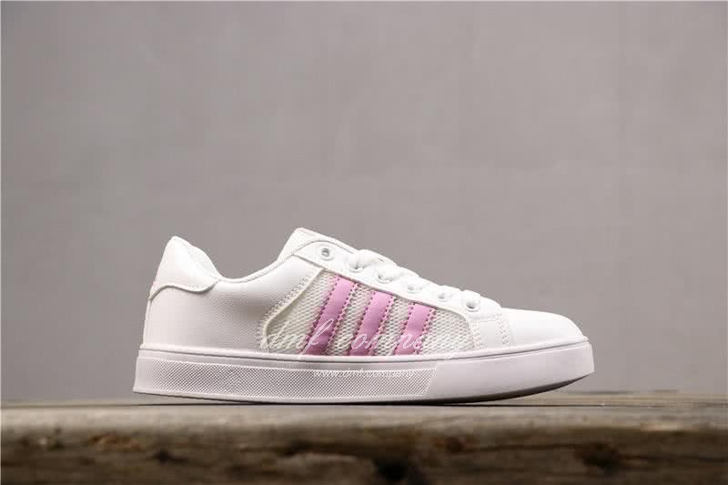 Adidas NEO Shoes White/Pink Women 2