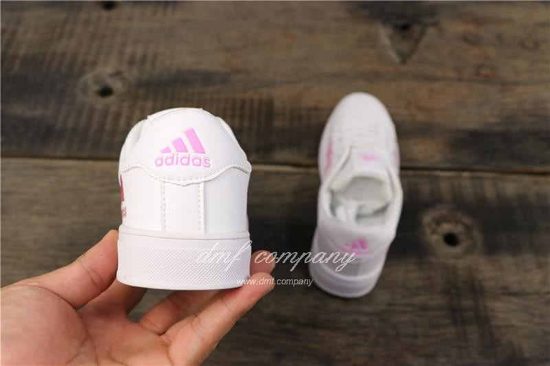 Adidas NEO Shoes White/Pink Women 4