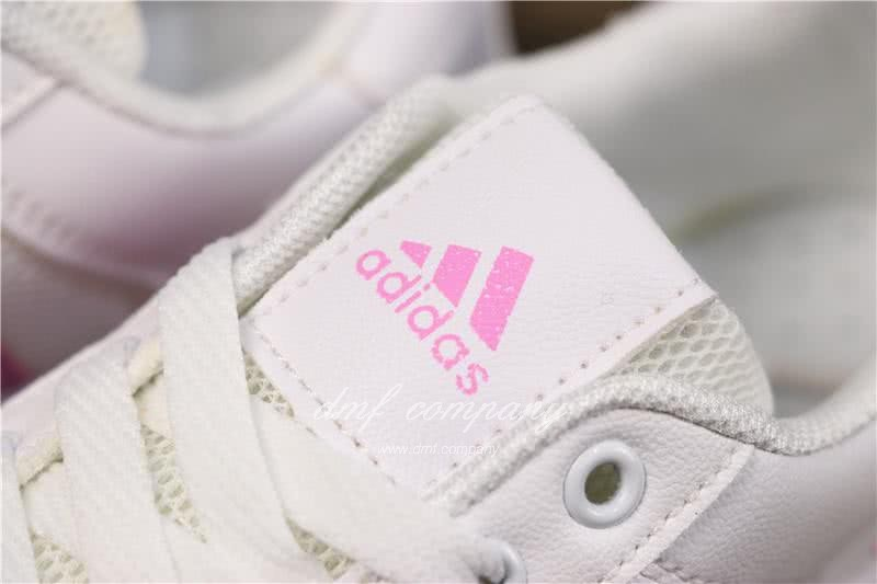 Adidas NEO Shoes White/Pink Women 5